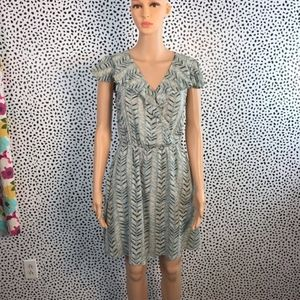 Bcbg generation blue ruffle dress size small